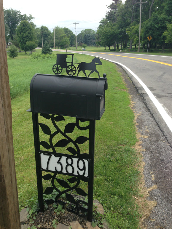Amish Mailbox topper powder coated steel mail box