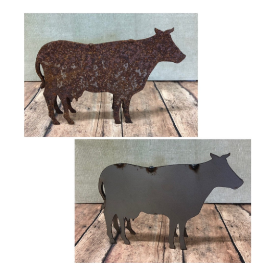 Cow Metal Art 6