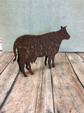 "Cow Metal Art 6"" 12"" 18"", Laser cut farmhouse decor will rust"