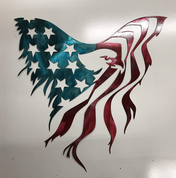 American Eagle Flag Metal Sign Wall Art Home Decor FREE SHIPPING
