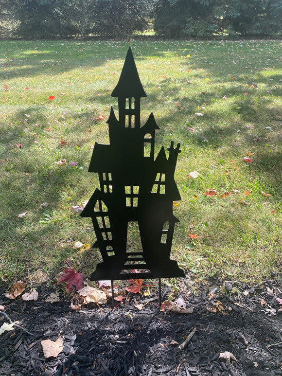 Haunted House Garden Yard Stake Halloween