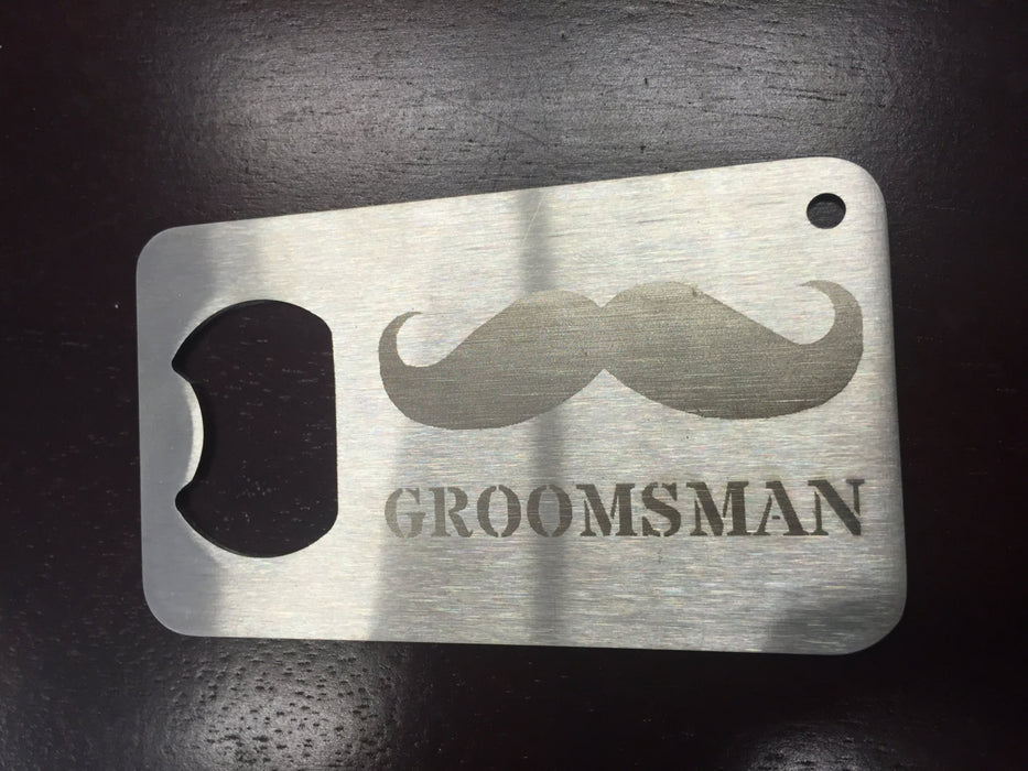 Groomsman gift Man Card  Mancard  laser etched Stainless Steel Made to last