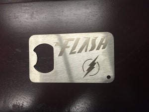 The Flash  Man Card bottle opener  Stainless Steel Made to last