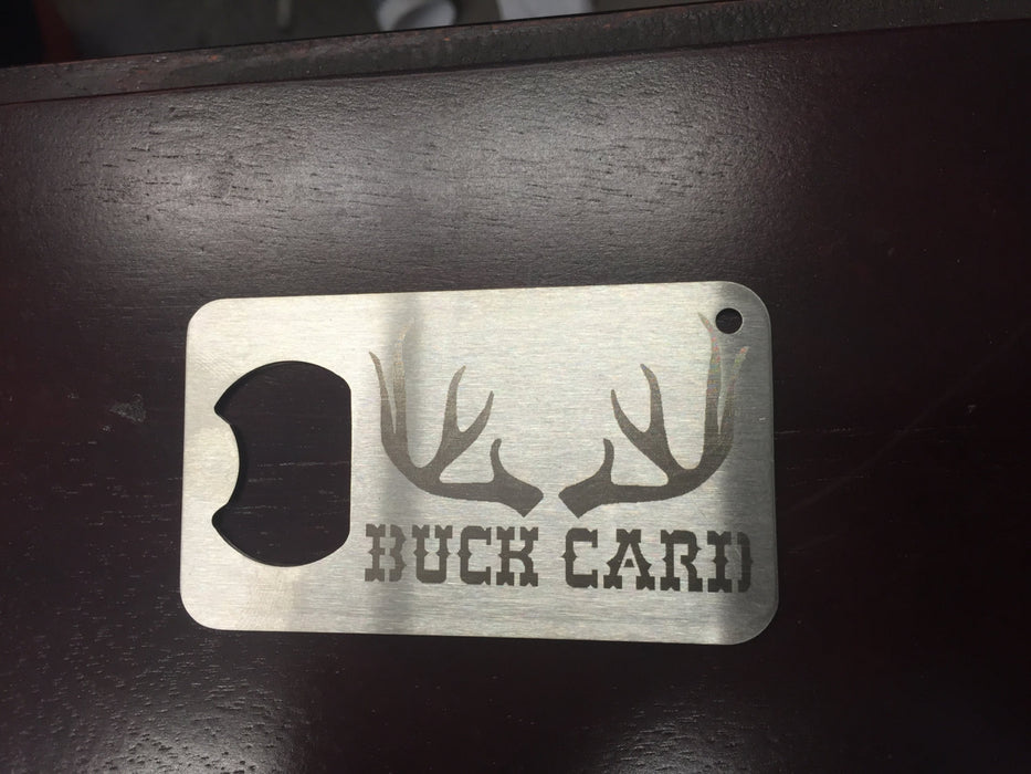Buck Card Hunting  Man Card    Stainless Steel Made to last