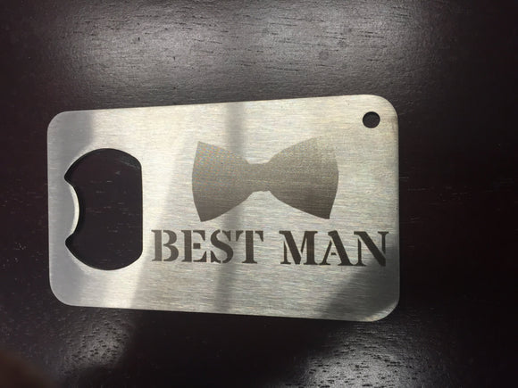 Best Man Bottle opener man card