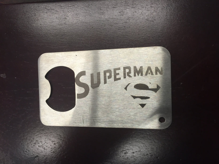 Superman  Man Card bottle opener Stainless Steel Made to last