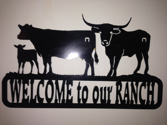 Welcome to our Ranch sign