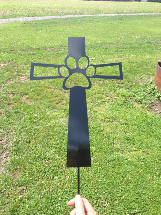 Pet Memorial Cross  - Garden Stake - Dog