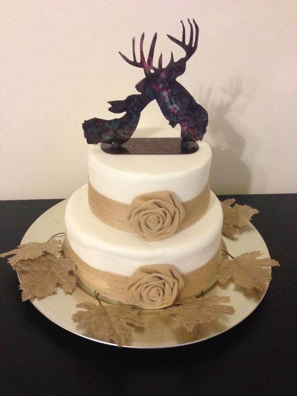 Deer Kiss cake topper