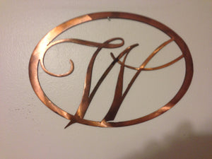 Oval Monogram single letter