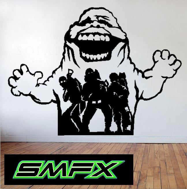 Ghostbusters metal wall art 80's  movies