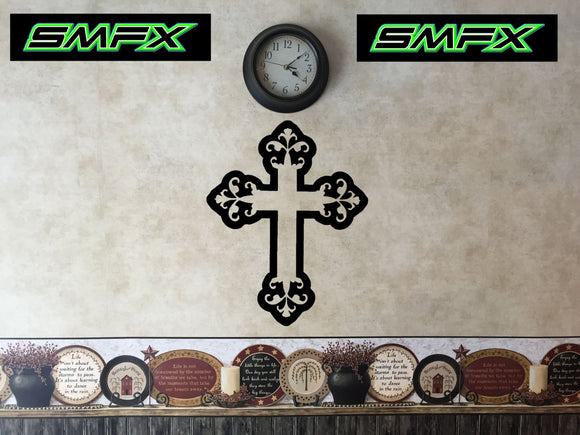 Cross metal wall art