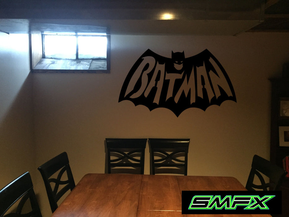 Batman Man cave sign Mancave metal wall art sign