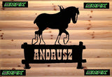 clydesdale horse custom sign welcome sign