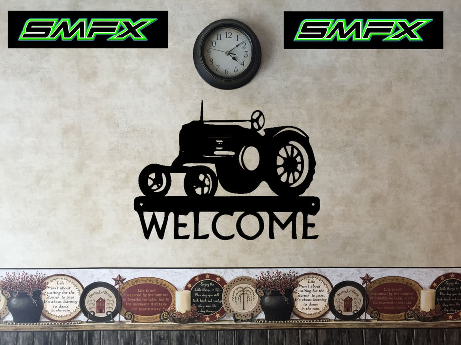 tractor welcome sign