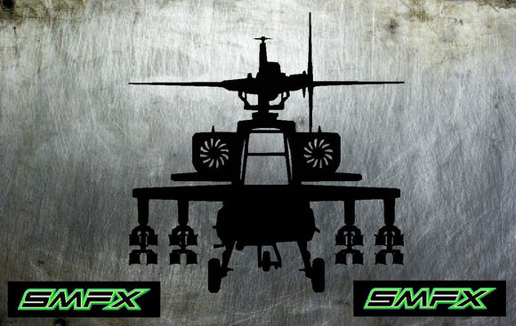 apache helicopter metal wall art