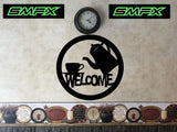 Coffee Welcome sign