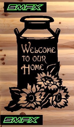 Milk Jug welcome sign