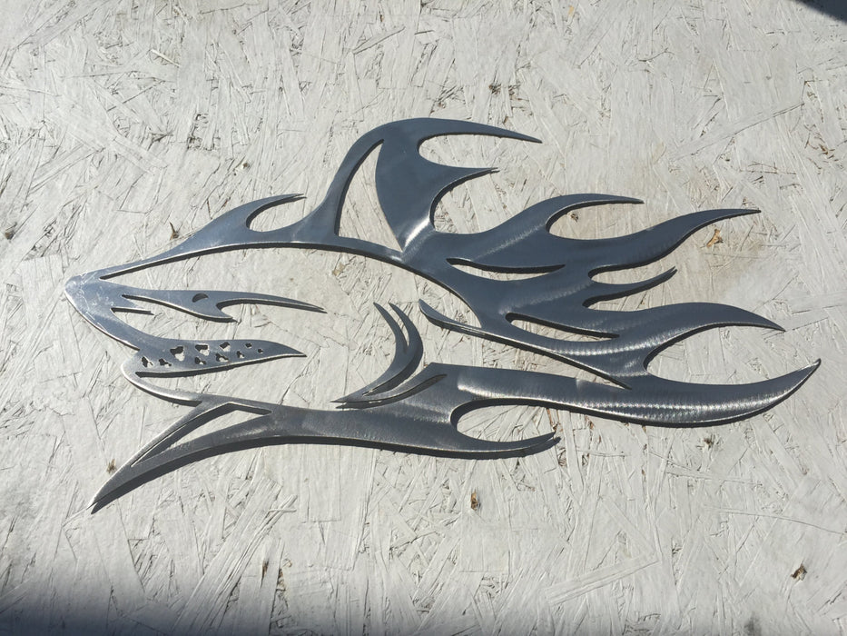 Shark metal sign sharks