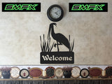 Crane welcome sign house numbers