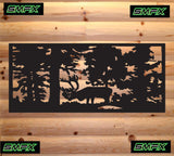 Elk in trees railing insert or wall sing home decor