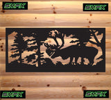 Bull Elk railing insert or wall sing home decor