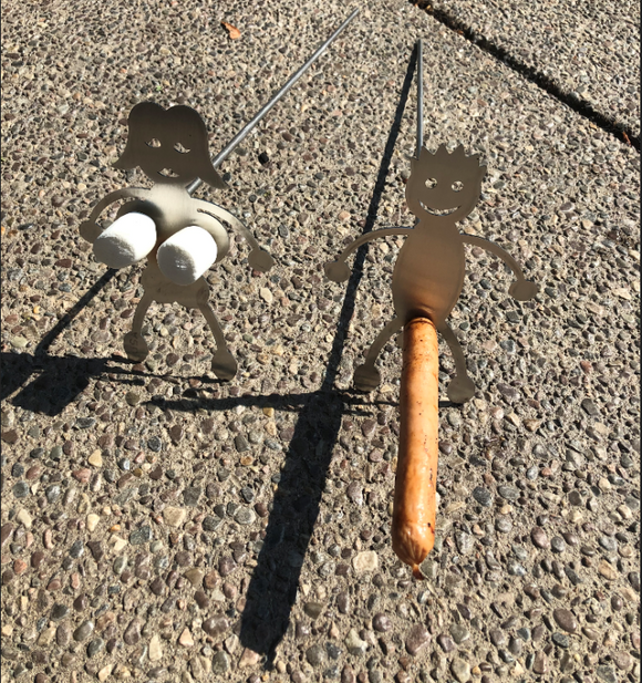 Stainless boy and girl Adult dirty hotdog roasters Marshmallow and Hot Dog Roasting Sticks