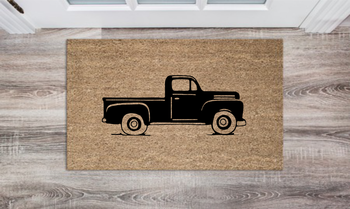 Truck Personalized Doormat Custom Doormat Wedding Gift Housewarming Gift Closing Gift Welcome Doormat Front Door Mat Farmhouse Decor
