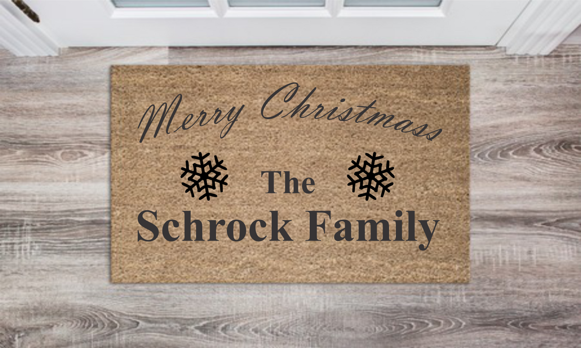 Family Monogram Personalized Doormat Custom Doormat Wedding Gift Housewarming Gift Closing Gift Welcome Doormat Front Door Mat Farmhouse Decor