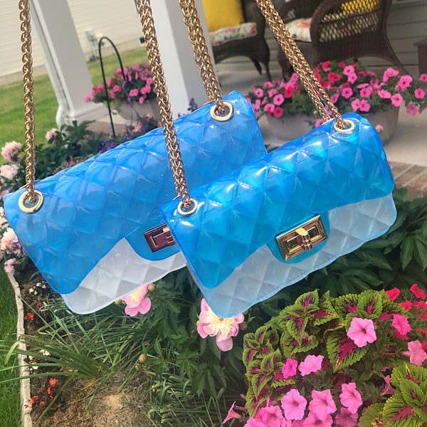 Jelly Bag - Blue/Clear