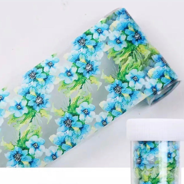 BLUE/GREEN FLOWER FOIL