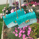 Jelly Bag - Teal/Clear