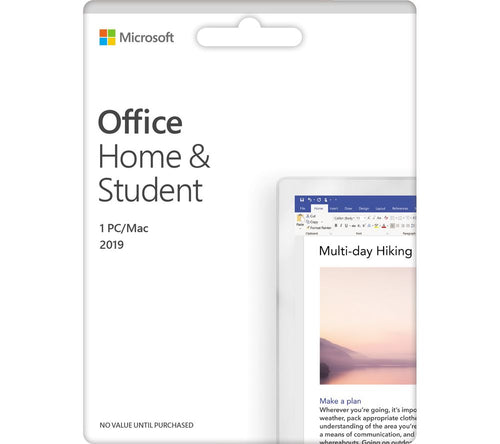 Microsoft Office 2019 Home & Student Edition for Windows PC's and Laptops - Genuine 32bit or 64bit