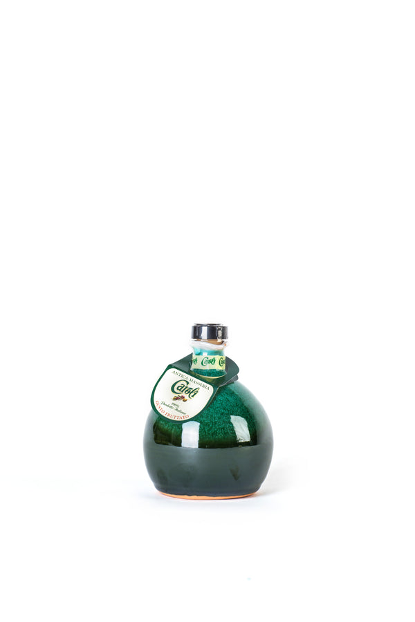 Caroli Italian EVoo. Beautiful Packaging. Cold Pressed 8 oz Fruity Flavour in Green Ceramic Jar
