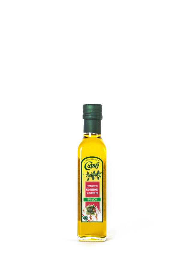 Caroli Italian EVoo 8oz Flavored. Cold Pressed. Basil