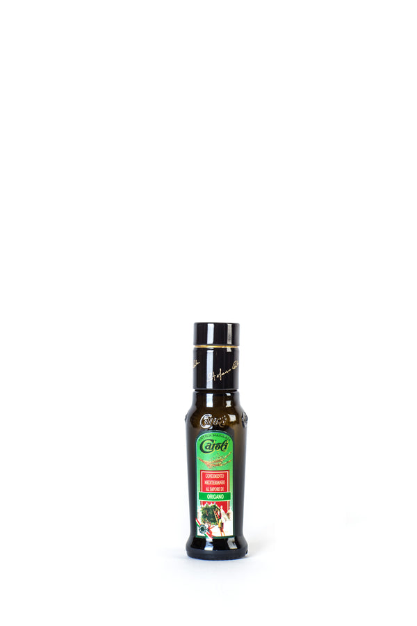 Caroli Italian EVoo Flavored. Cold Pressed. Oregano - 3.4oz Round Bottle