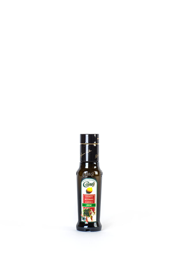 Caroli Italian EVoo Flavored. Cold Pressed. Lemon - 3.4oz Round Bottle