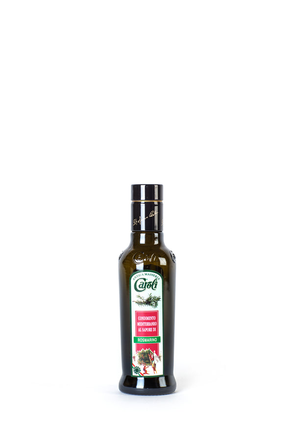 Caroli Italian EVoo Flavored. Cold Pressed. Rosemary - 8.4 oz Round Bottle