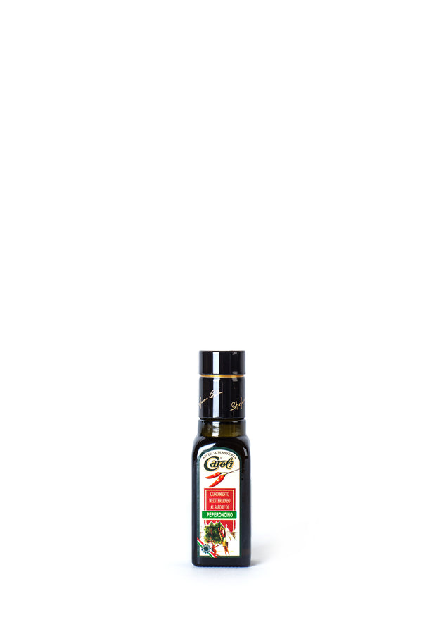 Caroli Italian EVoo Flavored. Cold Pressed. Hot Pepper  - 3.4oz Square Bottle