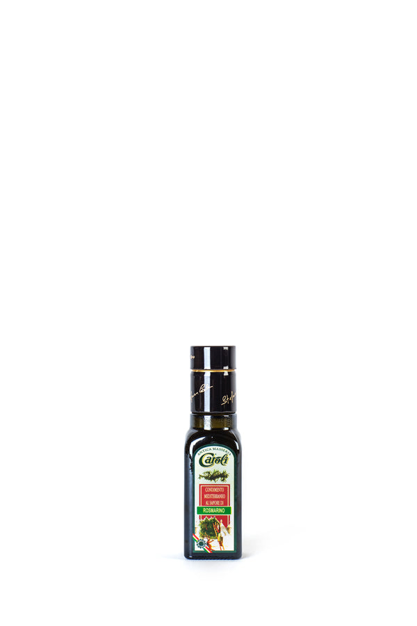 Caroli Italian EVoo Flavored. Cold Pressed. Rosemary  - 3.4oz Square Bottle