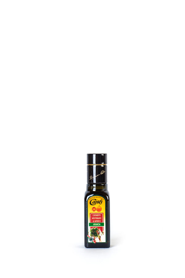 Caroli Italian EVoo Flavored. Cold Pressed. Orange  - 3.4oz Square Bottle
