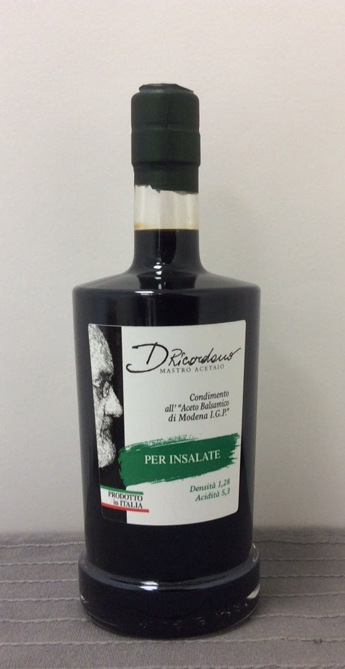 Ricordano's dressing with balsamic vinegar of Modena for Salads