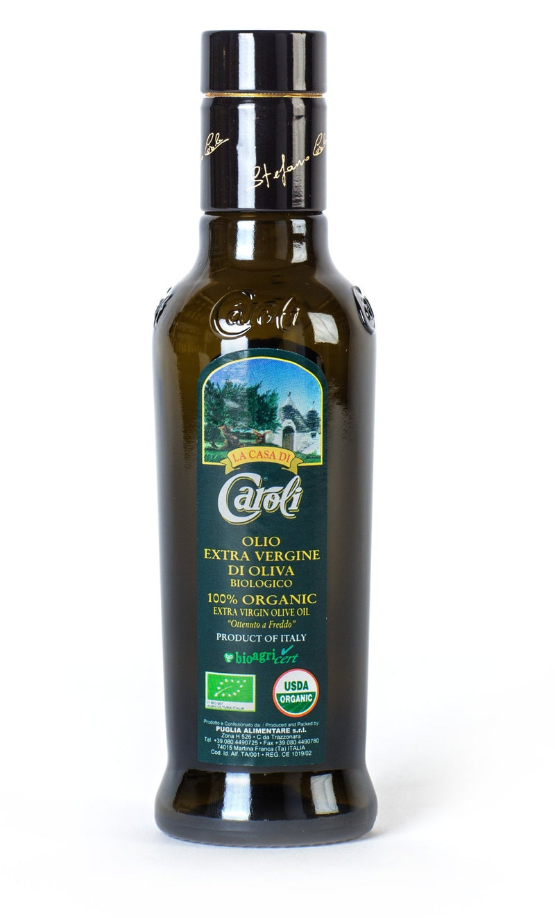 Caroli USA, Inc Extra Virgin Olive Oil 8oz Caroli Organic Italian Extra-Virgin Olive Oil | Cold Pressed | Award Winner