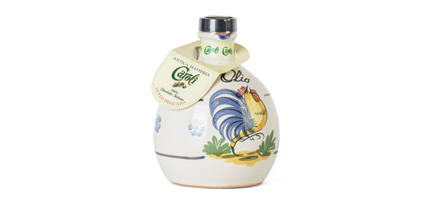 Caroli USA, Inc Extra Virgin Olive Oil Italian Soft Flavor Extra Virgin Olive Oil 250 mL (8 fl oz) Cold Pressed in Ceramic Jar Gallo.