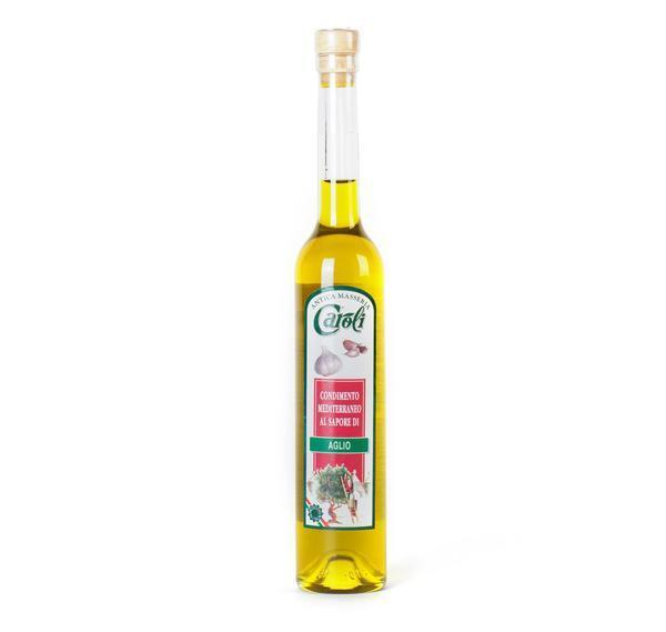Caroli USA, Inc Flavour Extra Virgin Olive Oil Garlic Caroli EXTRA VIRGIN OLIVE OIL 100 ml (3.4 fl oz) Flavored in Gardenia Bottle. Cold Pressed.
