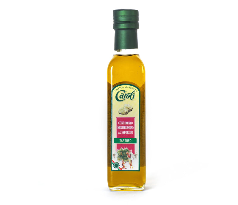 Caroli USA, Inc Flavour Extra Virgin Olive Oil Italian Extra Virgin Garlic / Basil / Truffle / Spiced Olive Oil 250 mL (8 fl oz). Cold Pressed.