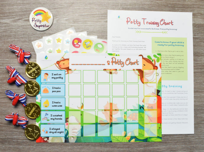 Less stress, more fun with Flair Essentials Potty Training Reward Chart