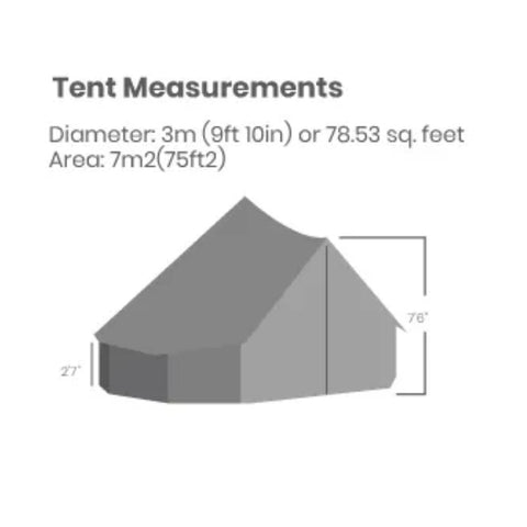 10 foot regatta bell tent - dimensions