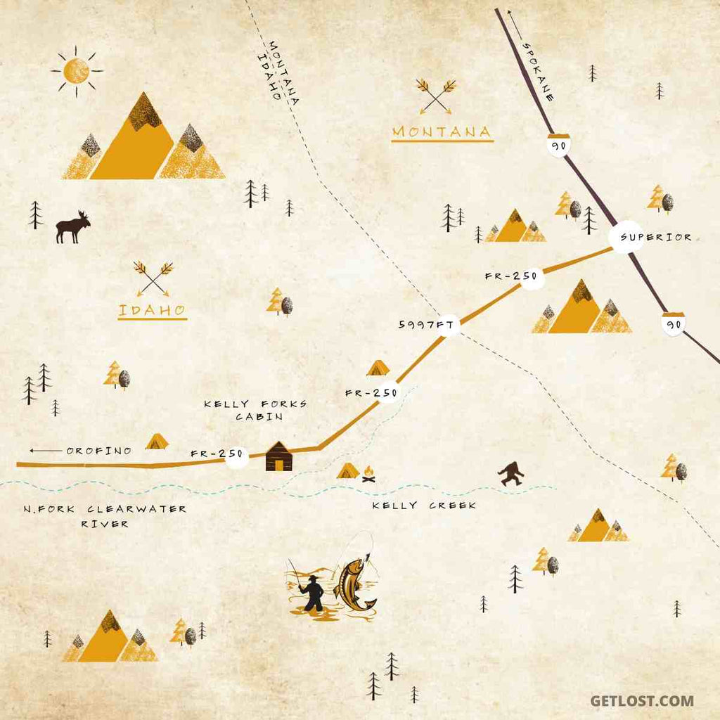 Hoodoo Pass Map