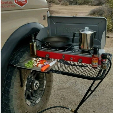 Original Standard Steel Tire Table - camping